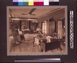 Living room, view toward dining room.