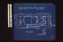 "Plan of grounds, section of grade at ""A""-""B"" looking west, elevatin of grade looking north from house : Sheet no. 1,"