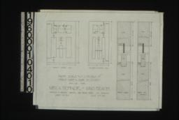Inch scale and F.S. details of front door and door to entry : Sheet no. 13A,