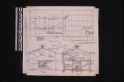 Stable -- foundation plan\, west end elevation\, section A-B :No. 2\,