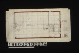 First floor plan\, elevation of office\, detail of ceiling partition :2a.