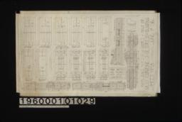 Inch scale and F.S. details of doors : Sheet no. 18,