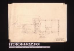 Additions -- floor plan :Sheet no. 4. (2)