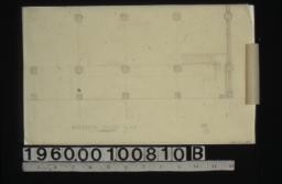 Partial mezzanine floor plan showing original design :No. 1\, 2.