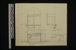 Detail of marble slab -- elevation\, plan\, section :14\,