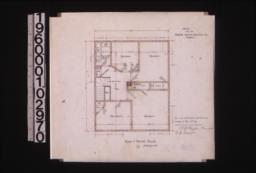 Plan of second floor : 2\,