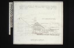 Northwest elevation :Sheet no. 3\,