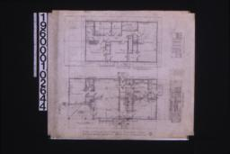 "Second floor plan ; first floor plan ; detail at ""X"" ; elevations of west side of living room and north end of living room : 2."