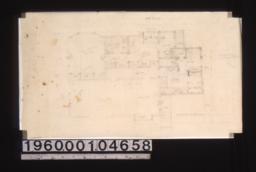 Sketch of first floor plan.