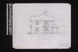 West elevation : Sheet no. 6. (2)