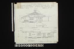 Keeper's house -- east elevation\, south elevation :Sheet no. 4\,