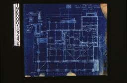 """Foundation plan; foundation details -- post footing\, wall section (see elevations for height of walls)\, porch piers\, section """"C-C"""" :Sheet no. 1. (7)"""