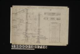 Elevation of west side of living rm. hall and bedrm.; 1/8 in. scale details of dining room -- east side\, south side\, west side; 1 1/2 inch scale details -- sections through walls with exterior and interior elevations of windows\, shingled ridge roll\, batten door : No. 2.