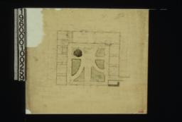 Plan of dwelling at ground floor level, showing court.