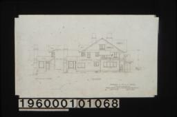 North elevation; north elevation of sun room : Sheet no. 6. (2)