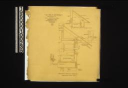 1 1/2 inch details -- vertical section through bedroom no. 4 - bay\, plan of seat end at A\, section of sideboard bay roof\, unidentified section of verge board and beam :15.