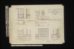1/2 in. scale details of interior finish -- linen closet in elevation\, section and plan; case of drawers in closets in elevation and section; elevation of kitchen sink; butler's pantry in plan\, elevation and section :10.