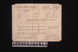 Foundation plan with sections\, view of slab showing spacing of roads :Sheet no. 1.