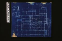 """Foundation plan; foundation details -- post footing\, wall section (see elevations for height of walls)\, porch piers\, section """"C-C"""" :Sheet no. 1. (9)"""