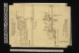 Revised drawing of part of sheet no. 2 i.e. first floor plan showing changes; west elevation -- revised drawing of part of sheet no. 7 showing changes.