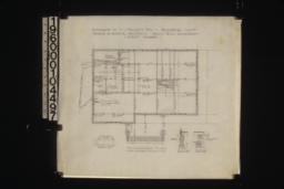 Foundation plan; details -- chimney footing\, wall footings\, pier footings :Sheet no. 1.