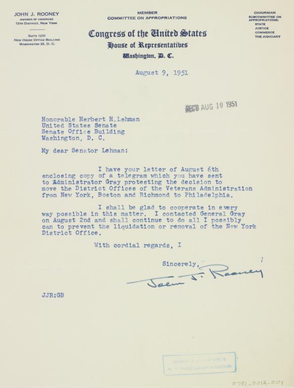 letter 1951 august 9