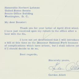 Letter: 1956 April 28