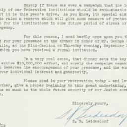 Invitation: 1943 September 8