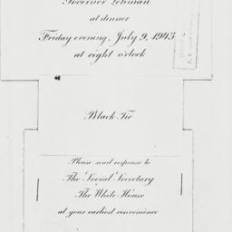 Invitation: 1943 July 9