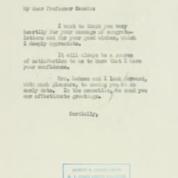 Letter: 1950 November 14