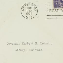 Envelope: 1939 June 12