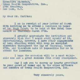 Letter: 1941 March 21