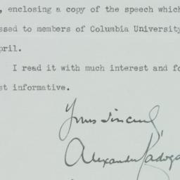 Letter: 1947 April 15