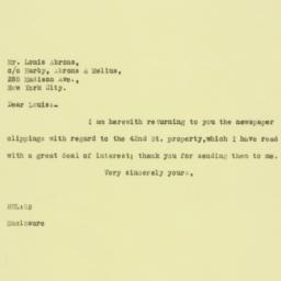 Letter: 1925 December 21
