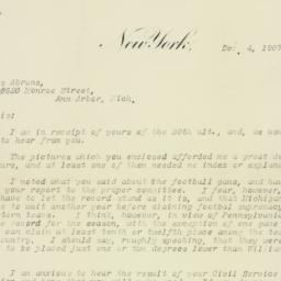 Letter: 1907 December 4