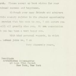 Letter: 1948 November 4