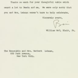 Letter: 1961 September 28