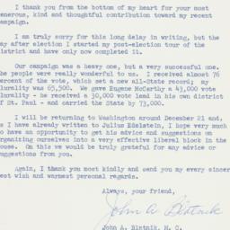 Letter: 1958 December 12