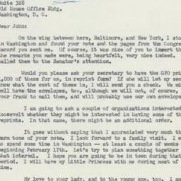 Letter: 1958 February 9