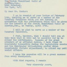 Letter: 1941 February 15