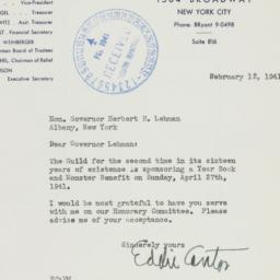 Letter: 1941 February 13