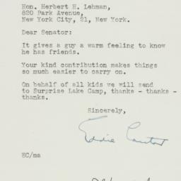 Letter: 1950 February 9