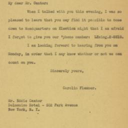 Letter: 1932 November 4