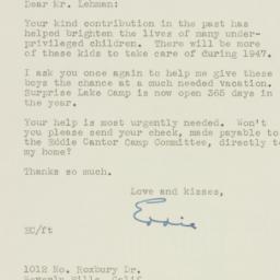 Letter: 1947 January 6