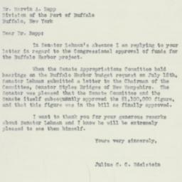 Letter: 1954 August 23
