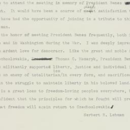Telegram: 1948 September 8