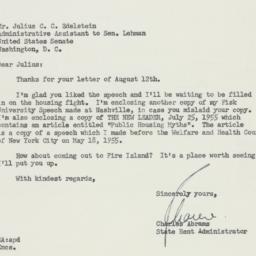 Letter: 1955 August 16