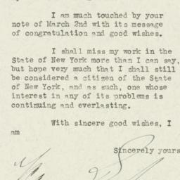 Letter: 1933 March 14