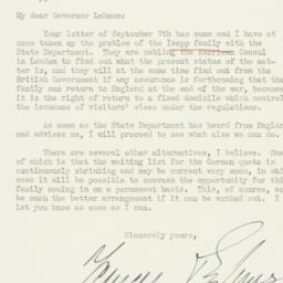 Letter: 1940 September 9