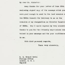 Letter: 1946 July 12